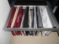Suspension folders in hanger